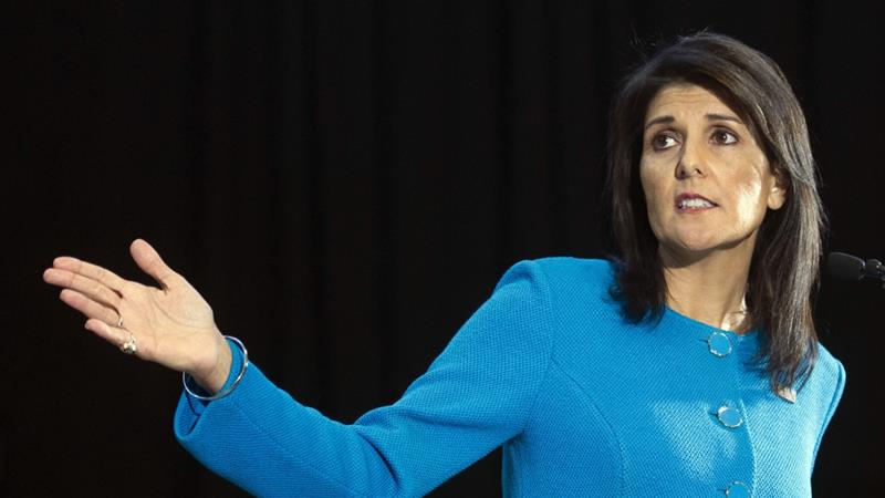 US President Donald Trump announced on October 9 that US Ambassador to the UN Nikki Haley has resigned and will leave her post by the end of the year [AP]