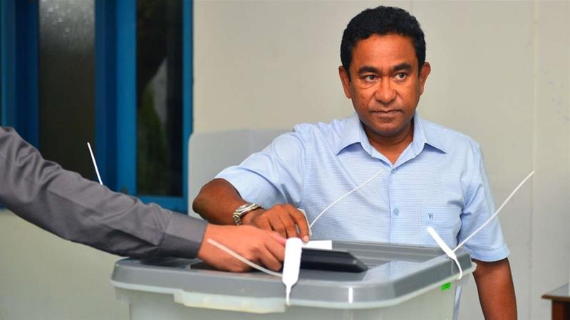 Abdulla Yameen lost the September 23 election by a margin of 16 percent [Handout/ Maldives President's Office]