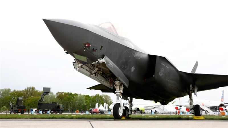 A Lockheed Martin F-35 aircraft is seen at the ILA Air Show in Berlin Germany