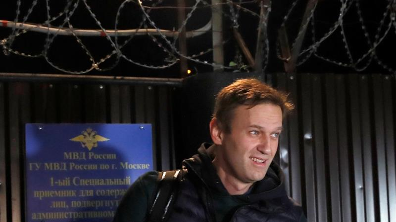 Russian opposition leader Alexei Navalny freed from prison ...
