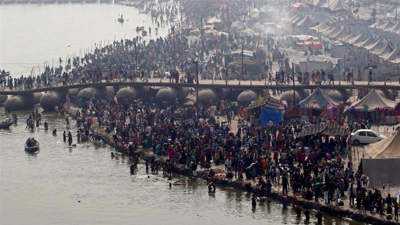 Allahabad is the site where the rivers Ganges and Yamuna meet [File: Jitendra Prakash/ Reuters]