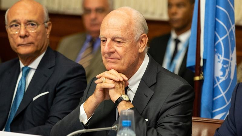 UN Syria envoy Staffan de Mistura to step down in November