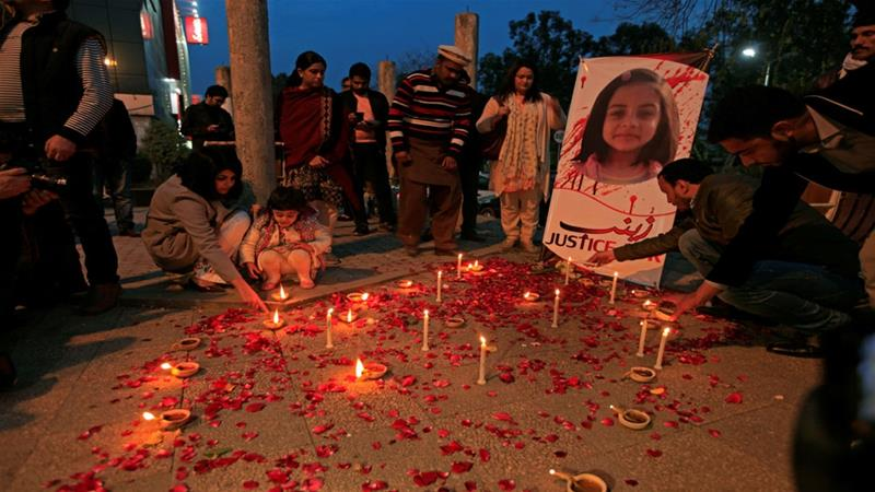 Six-year-old Zainab Ansari's body was found in a rubbish heap on January 9, sparking nationwide outrage and protests [File: Faisal Mahmood/Reuters]
