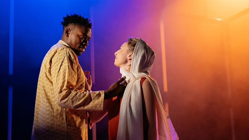 Victor Oshin, left, says playing Othello resonated with his own experience of downplaying his identity to avoid being stereotyped [Helen Murray/Al Jazeera]
