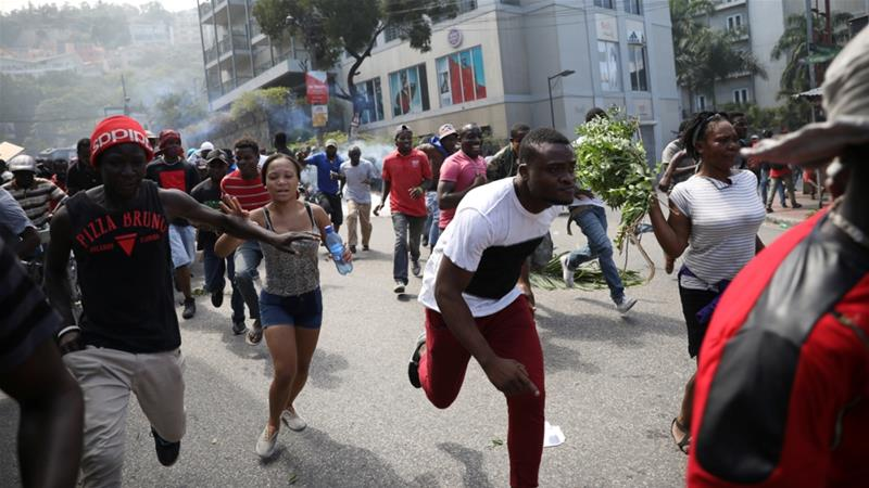 Haiti anti-corruption protest turns violent