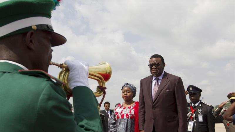 President Geingob has called for a change to the constitution to allow the government to expropriate land [Afolabi Sotunde/Reuters]