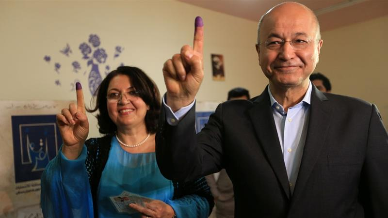 Parliament elects Barham Salih as new president