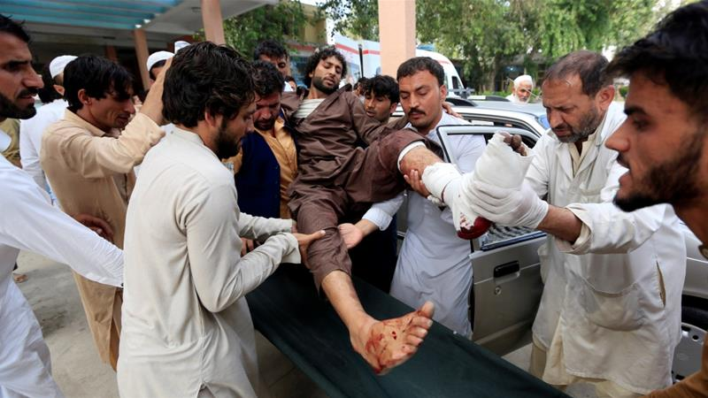 Violence has plagued the run-up to Afghanistan's long-delayed parliamentary vote, which is scheduled for October 20 [Parwiz/Reuters]