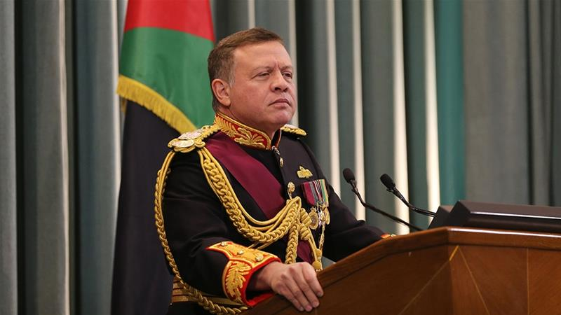 King says Jordan to reclaim land leased to Israel under 1994 deal
