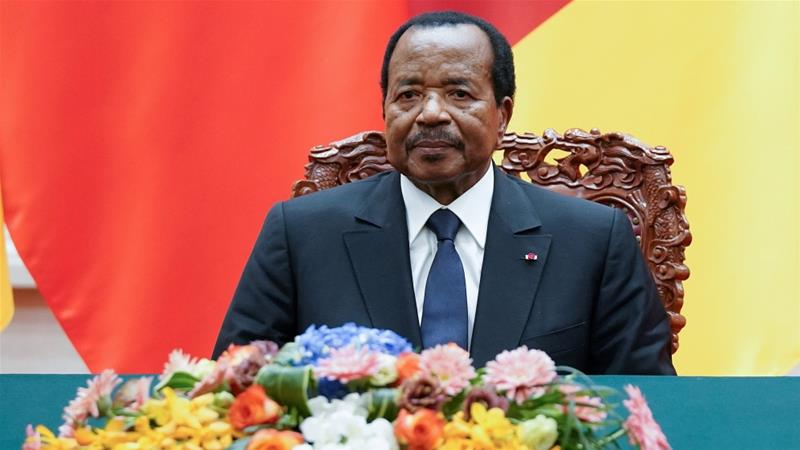 Paul Biya has ruled Cameroon since 1982 [Lintao Zhang/Pool via Reuters]