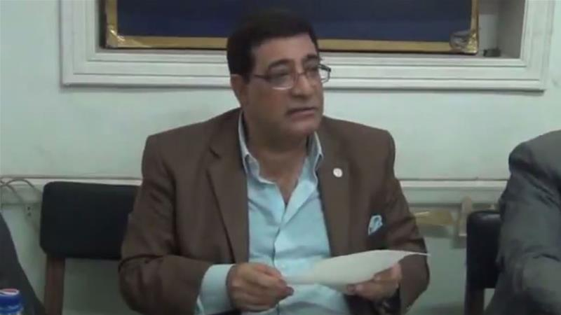 Farouk was arrested, reportedly over his book titled, Is Egypt really a poor country? [Screenshot via Youtube]
