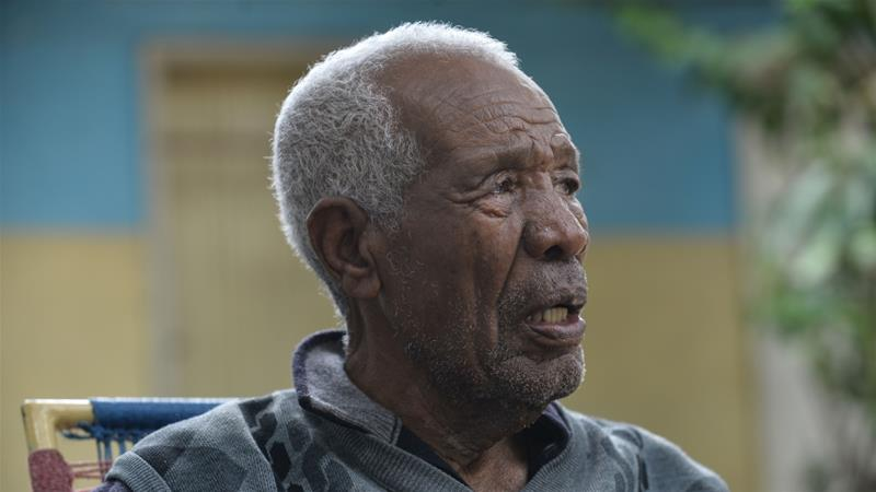Teklehaimanot Tesfazigi, 103, has seen Eritrea pass through the hands of the Italians, British and Ethiopians who annexed it in 1952 after a brief period of autonomy [Credit: Michael Tewelde/Xinhua]