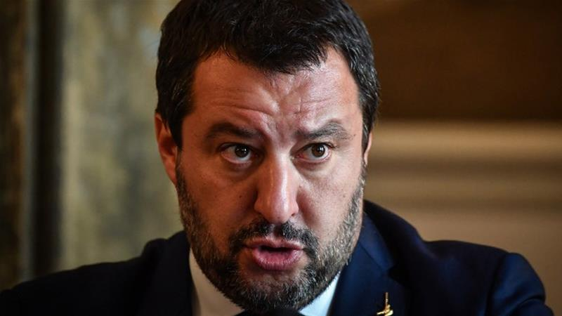 Italy's far-right Deputy Prime Minister Matteo Salvini warned the EU not to meddle with the budget [Daniel Mihailescu/AFP]