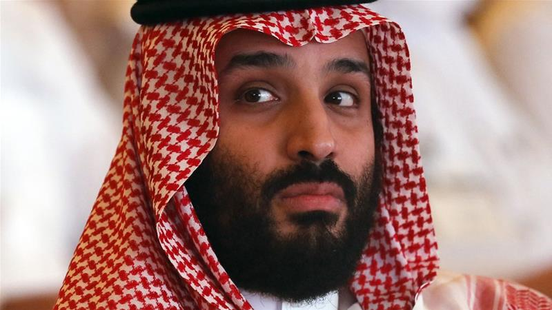 Mohammed bin Salman briefly attended the economic forum on Tuesday but did not speak publicly [Amr Nabil/AP]