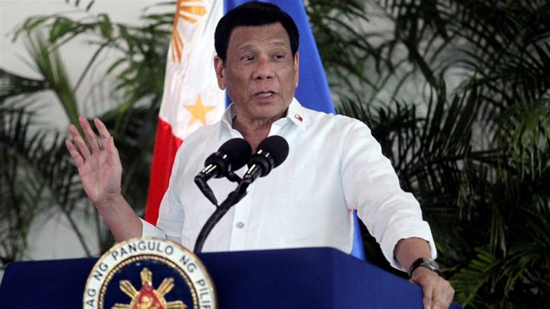 President Rodrigo Duterte was accused by critics of promoting more bloodshed in the Philippines [Lean Daval Jr/Reuters]