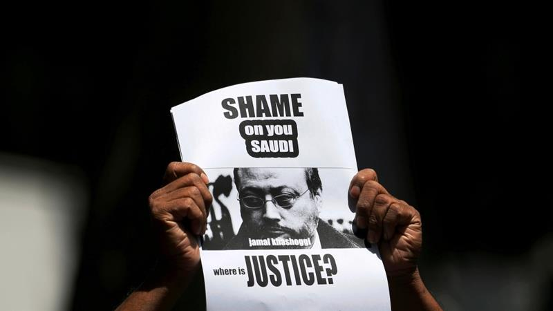 Khashoggi supporters hold vigil outside Saudi consulate