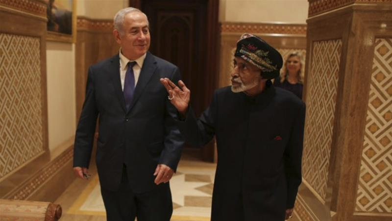 Netanyahu, Israeli officials make one-day visit to Sultan Qaboos in Oman