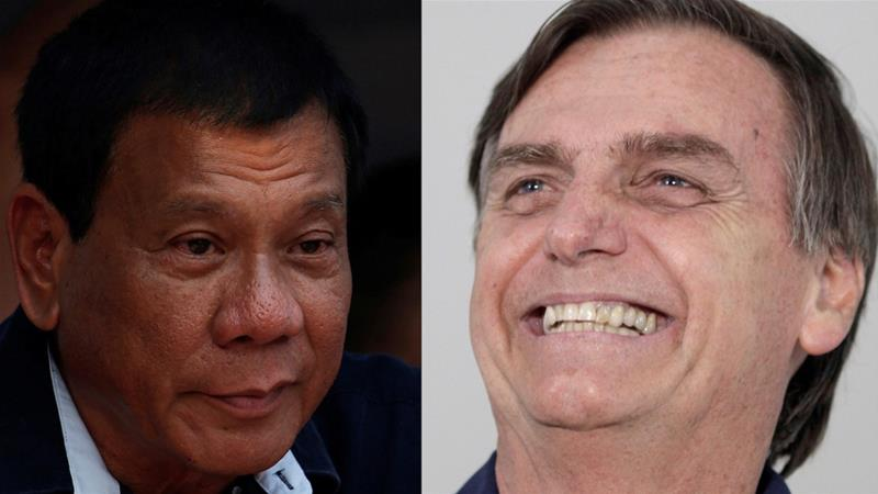Both Bolsonaro and Duterte have advocated violence as a cathartic solution to their respective countries' democratic ills, writes Heydarian [Reuters]