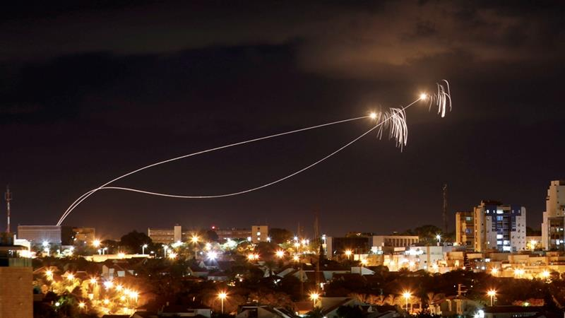 Israel's Iron Dome anti-missile system intercepted several rockets launched from Gaza [Amir Cohen/Reuters]