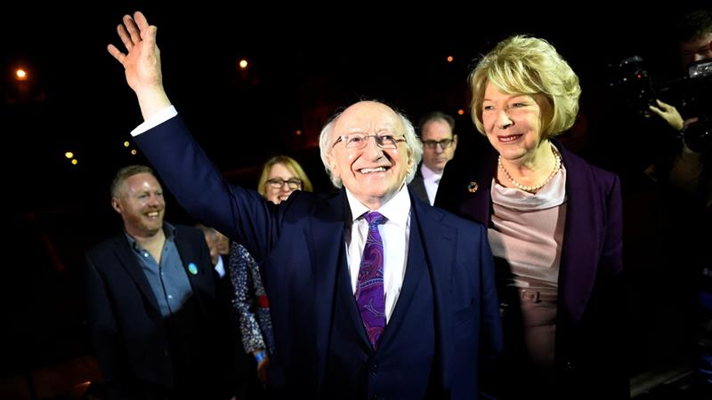 Ireland's President Michael Higgins handsomely won a second term [Clodagh Kilcoyne/Reuters]