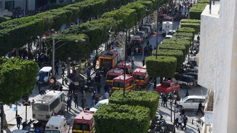Nine people wounded in Tunis suicide bomb attack