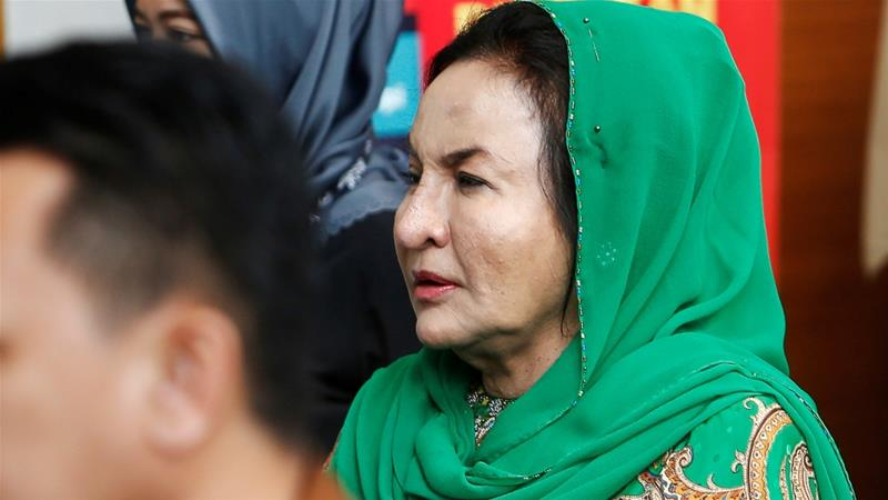 Rosmah, 66, was arrested in relation to money laundering investigations [File: Lai Seng Sin/Reuters]