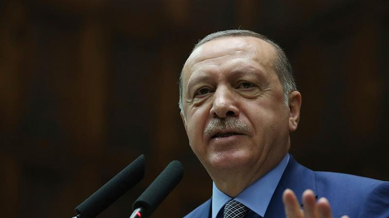 Erdogan says it is clear the order for Khashoggi's murder came from the top level of Saudi authorities [AP]