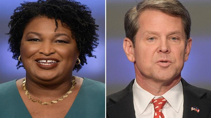 This combination of May 20, 2018, file photos shows Georgia gubernatorial candidates Stacey Abrams, left, and Brian Kemp in Atlanta.[John Amis/AP Photo] 