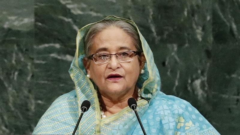 The Bangladeshi leader has led the AL party, founded by her father, since 1981  [Associated Press]