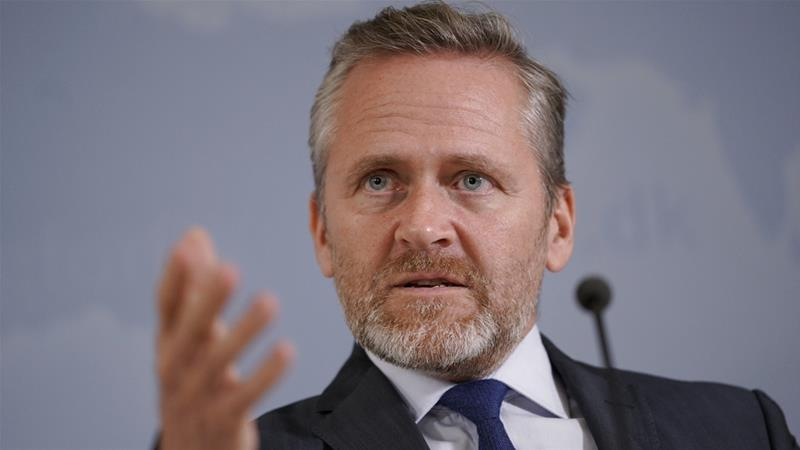 Danish Foreign Minister Samuelsen said he is talking to 'partners and allies' about possible sanctions [AFP]