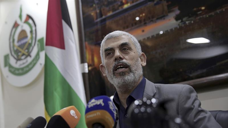 Yahya Sinwar said another war in Gaza was not in anyone's interest [Khalil Hamra/AP Photo]