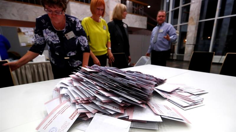 Russian minority party wins Latvian vote; populists surge