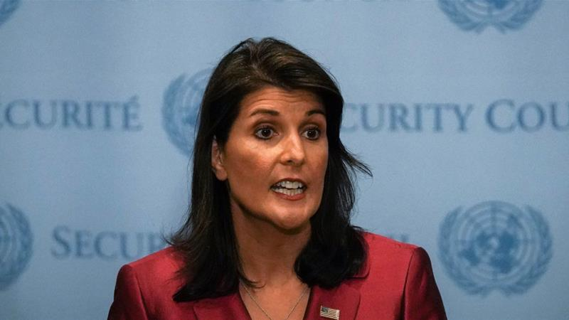 USA  ambassador to the UN Nikki Haley reportedly set to resign
