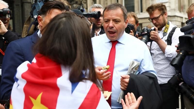Arron Banks (pictured) has also donated funds to the UK Independence Party in the past [Simon Dawson/Reuters]
