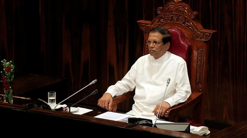 Sri Lankan president reconvenes parliament in effort to avert constitutional crisis