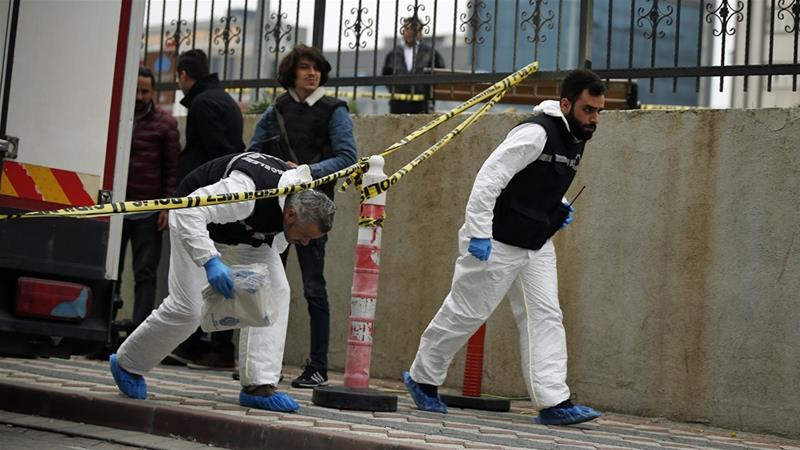 Traces of acid were found at the Saudi consul general's residence in Istanbul, sources told Al Jazeera [Emrah Gurel/AP]