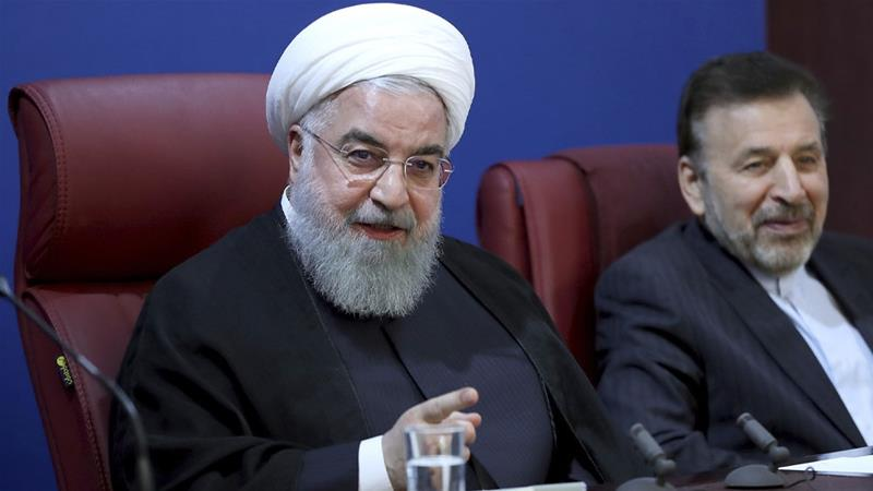 Rouhani said his country would 'proudly bypass' US sanctions, which he called 'illegal' and 'unjust' [The Associated Press]
