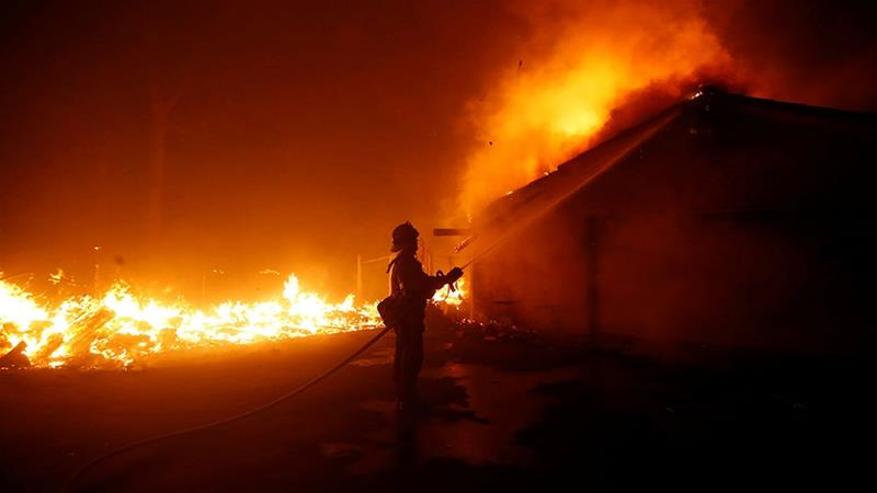 PG&E, linked to string of wildfires in California, files for bankruptcy