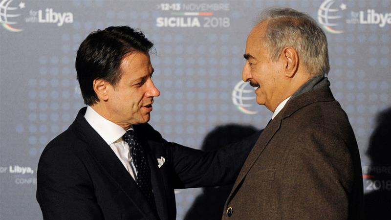 Libya's major rivals meet on sidelines of summit in Italy