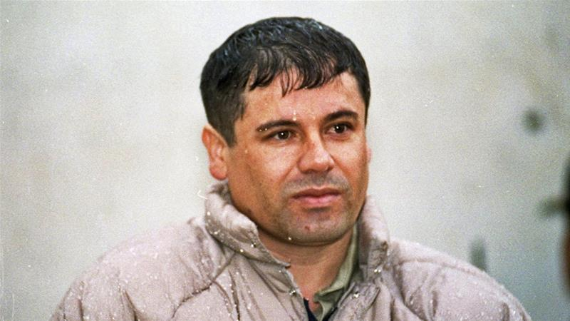 Joaquin Guzman Loera, alias 'El Chapo' is shown to the press after his 1993 arrest in Mexico [File: Damiam Dovarganes/AP]