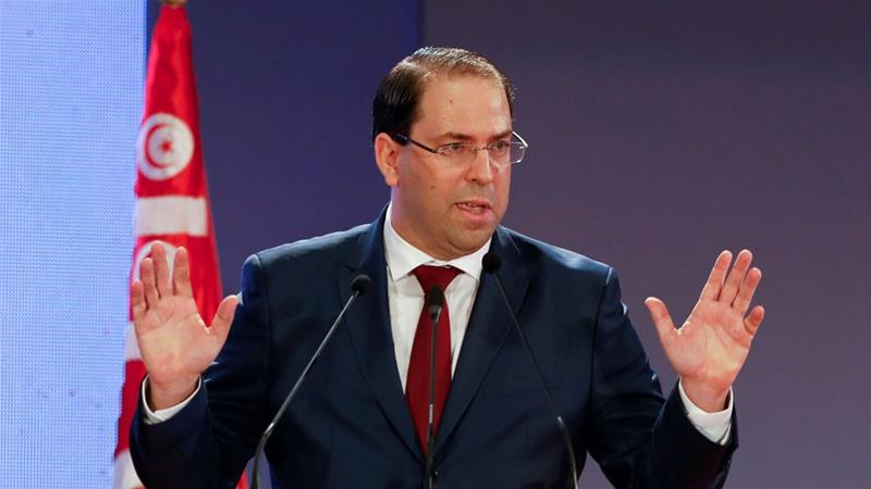 Chahed received more than the 109 votes needed to prevent his government from collapsing [Zoubeir Souissi/Reuters file photo]