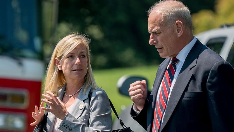Kelly is an ardent defender of Nielsen [Andrew Harnik/AP Photo]
