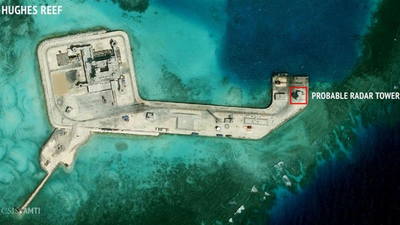 China claims the South China Sea in its entirety and has built military structures on small islands [CSIS Asia Maritime Transparency Initiative via Reuters]