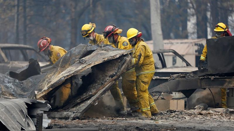 California wildfire toll rises to 48, hundreds still missing