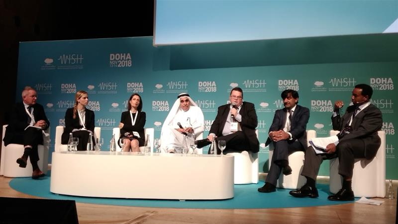 A panel discussion at the 2018 WISH Summit held on November 13-14 in the Qatari capital [Al Jazeera]
