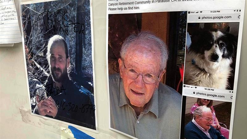 California wildfire survivors leave notes for missing relatives