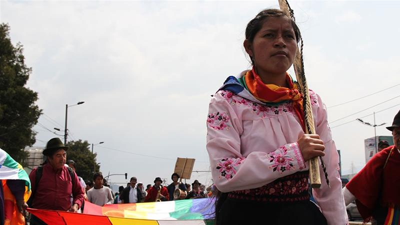Ecuador's indigenous march over 600km to demand an end to mining