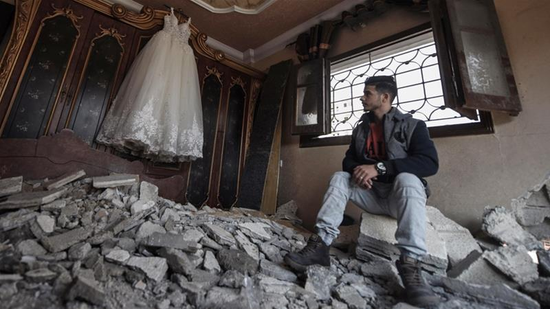 A Palestinian-Syrian love story crushed by Israeli air attacks