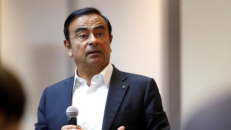 Carlos Ghosn, ex-chairman of Nissan Motor Co., was detained last month on allegations of underreporting his income. [File:Steve Marcus/Reuters]