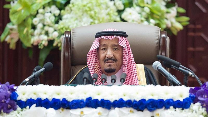 The king made his first public comments since Khashoggi's murder [Bandar Algaloud/Courtesy of Saudi Royal Court/Handout via Reuters]